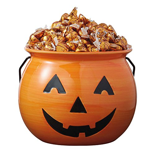 DII Ceramic Jack O Lantern Halloween Candy Bowl For Treat or Tricking, Party Decoartion, Table Décor , 8 x 8 x 6.5