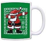 Dabbing Santa Ugly Christmas Sweater Mug Secret Santa Gift Yankee Swap Gift Coffee Mug Tea Cup Green