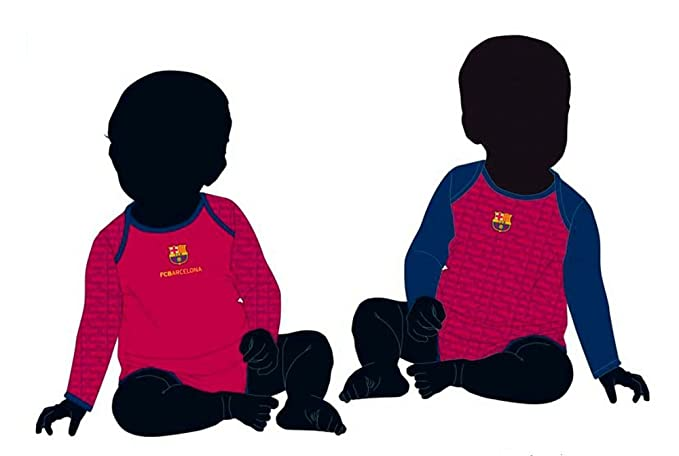 Pack 2 Body Manga Larga F.C.Barcelona 12M