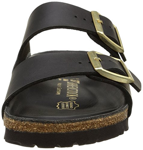 Birkenstock Arizona Unisex Soft Footbed Birko-Flor Sandal Black Suede xlpppoFXc