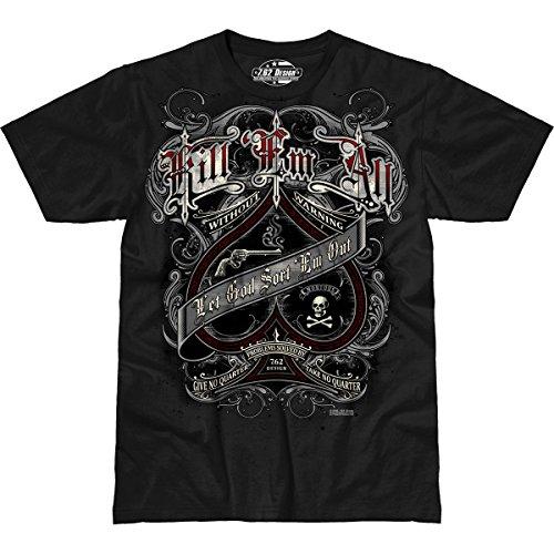 7.62 Design Kill 'em All' Men's Jumbo Print T-Shirt 2X (Print Design T-shirt 7.62)