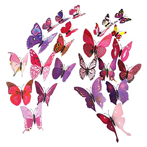 Mudder Butterfly Stickers Decoration Pieces