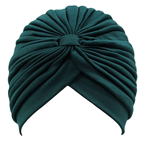 Leegoal Womens Pleated Stretch Turban