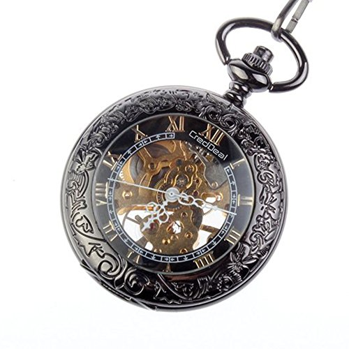 Steampunk taschenuhr  Taschenuhr Steampunk Pocket Watch Pendant Roman Number Half Hunter ...