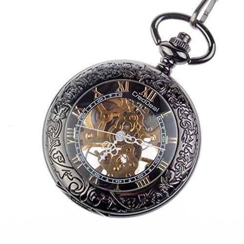 Steampunk pocket watch  Taschenuhr Steampunk Pocket Watch Pendant Roman Number Half Hunter ...