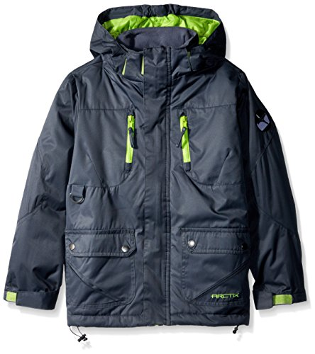 Arctix 737102-09-S Boys Nitro Insulated Winter Jacket, Steel, Small