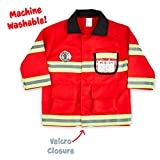 Born Toys (8 PC) Premium WASHABLE Fireman Costume Firefighter accessories Real Water Shooting Extinguisher Great Halloween