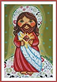 Sacred Heart of Jesus print Sacred Heart print Jesus painting Jesus picture Jesus wall art Childrens wall art Good Shepherd Jesus art print Jesus Christ art Christian kids First communion gift