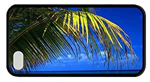Hipster cool iPhone 4S cases beach palms blue sea TPU Black for Apple iPhone 4/4S