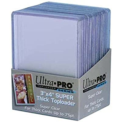 2 Ultra Pro 75pt Top Loader Packs 25ct (50 Total Toploaders) 81347-75 Pt for Thick Cards: Beauty