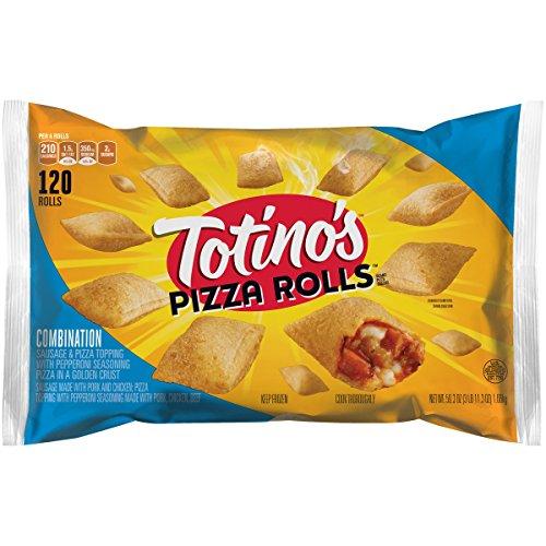 Totino's Pizza Rolls, Combination, 120 Rolls, 59.3 oz Bag (frozen)