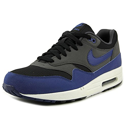 NIKE AIR MAX 1 ESSENTIAL 537383_041 Black/Drk Ryl Bl-anthrct-white