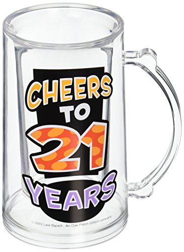 Laid Back C541V Cheers to 21 Years Acrylic Tankard, 14-Ounce (Cheers And Beers Costume)