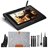 Parblo 10.1' Coast10 Graphics Drawing Tablet LCD Monitor with Cordless Battery-free Pen +Wool Liner Bag
