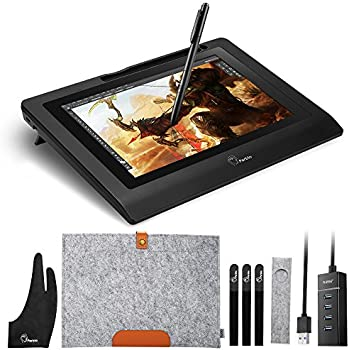 amazon com ugee 19 graphics drawing pen tablet monitor with screen