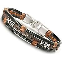 Jstyle Jewelry Men Leather Bracelets Cool Rope Bracelet for Boys