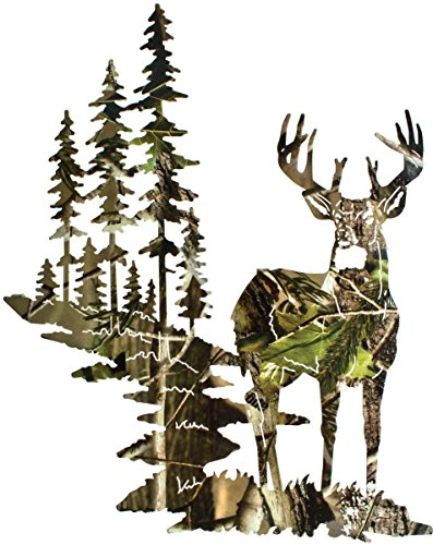 SDore Camo Deer Birthday Party Edible 1/4 Sheet Image Frosting Cake -
