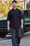Uncommon Threads Unisex Delray Chef Coat with Mesh Short Sleeve 5.25, Black, X-Small