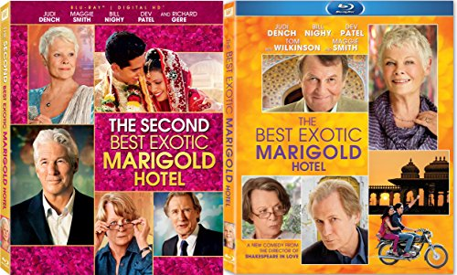 The Best Exotic Marigold Hotel & The Second Best Exotic Marigold Hotel 2 BLU RAY Set (Maggie Smith Best Exotic Marigold Hotel 2)