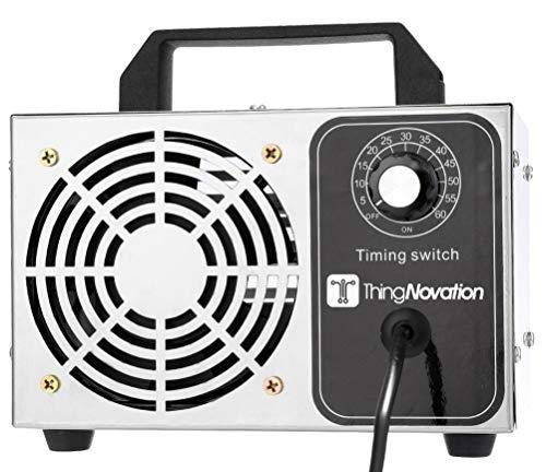 🥇 Thingnovation Generador de ozono 24.000 MG/Hora. Purificador de Aire Ambientador Esterilizador Ozonizador O3 03 24g