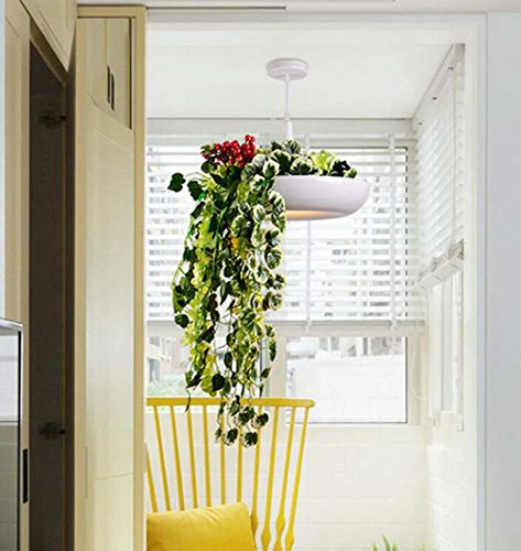 Grass Hanging Panel - Onfly Nordic Flower/grass Pendant Lamp,Single Head Pan Lid Chandelier, Simulation Flowers Hanging Lamp,Restaurant/living Room/caffe Deco Lamp (without Bulb) (Color : With flowers)