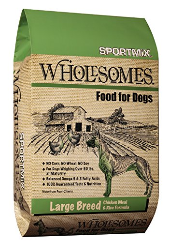 Midwestern Pet Foods SPORTMiX Wholesome Large Breed Chicken Meal and Rice Formula Dry Dog Food, 40-Pound - Formula Bag 40lb