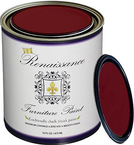 Retique It RFP-P16-Burgundy by by Renaissance Chalk Finish Paint, 16 oz (Pint), Burgundy ()