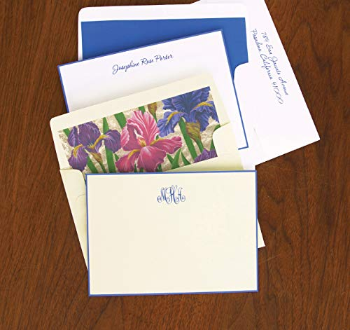 Periwinkle Hand Bordered Correspondence Cards - Set of 25-9150