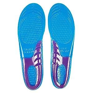 Gel Insoles By Envelop - Shoe Inserts for Running, Hiking, & More - Best Full Length Insoles for Men & Women - Advanced Design Lets Gel Insoles Absorb Shock (Men's 8-13)