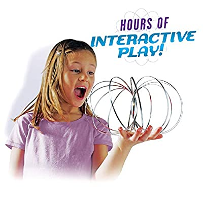Original GeoFlux Mesmerizing 3-D Kinetic Sculpture & Interactive Spring Toy (Geoflux Large Single Pack): Toys & Games