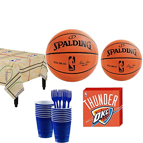 Party City Oklahoma City Thunder Party Kit 16 Guests, Includes Table Cover, Plates, Napkins and More -