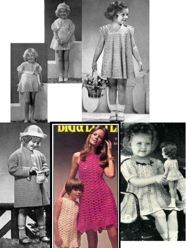 Amazoncom Crochet Vintage Little Girl Dresses Crochet Toddler