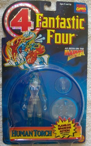 Toy Biz Marvel Fantastic Four Animated Series Invisible Woman Action Figure 5 Inches