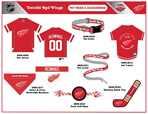 Amazon.com   NHL Detroit RED Wings Tee Shirt for Dogs   Cats 8b4ced23e