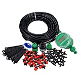 TOOGOO 1 Sets Fog Nozzles irrigation system Portable Misting Automatic Watering 20m Garden Hose Spray Head Water Connection Dripper