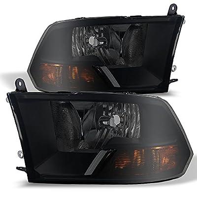 Black Smoke 09-16 Ram 1500 10-16 Ram 2500 3500 Pickup Truck Headlights Front Lamps Replacement