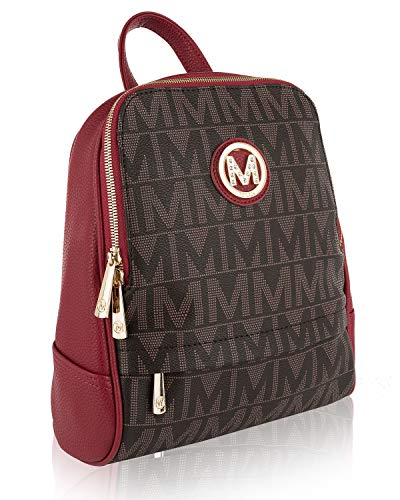 Daliza M Signature Faux Leather Backpack for Girls School College bag Casual Travel Daypack Trendy Backpack by Mia K.Farrow -