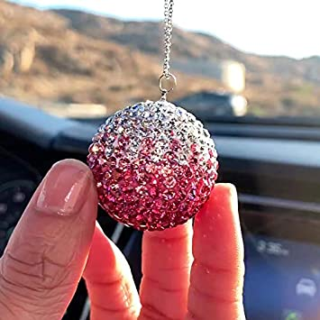 Purple Car Charm Decoration Bling Car Accessories Rhinestone Hanging Ornament for Car /& Home Decor Crystal Sun Catcher Ornament Bling Car Decor Crystal Ball Car Rear View Mirror Charm