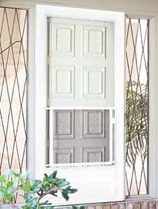 "CRL White 30"" to 36"" Swinging Screen Door Grill"