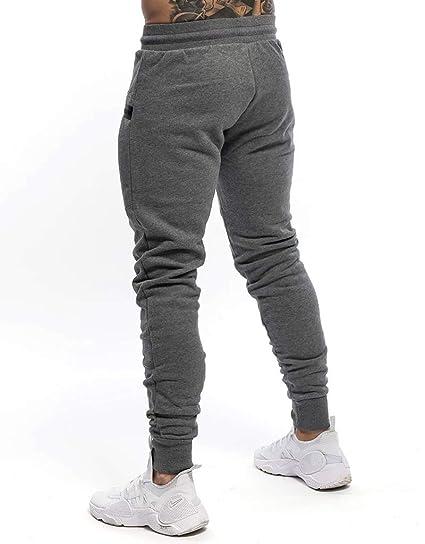 Yidarton - Pantalones de chándal para Hombre, de algodón ...