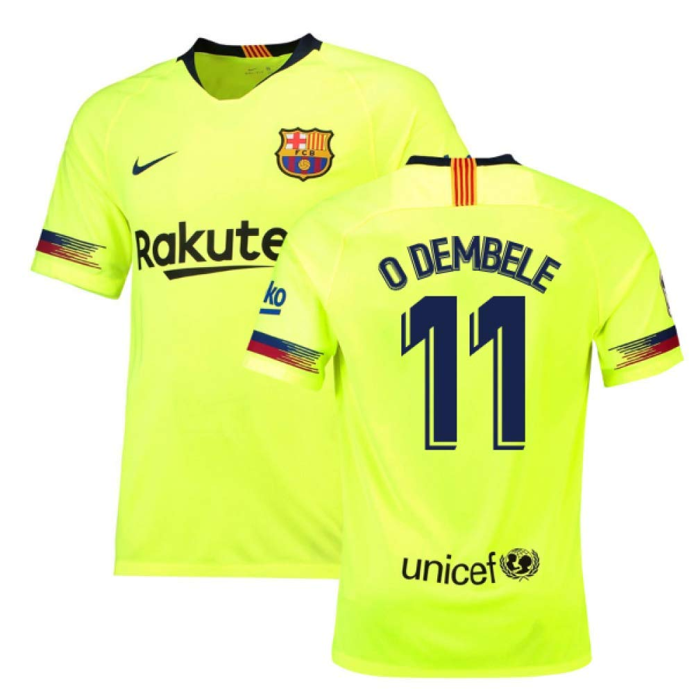 2018-19 Barcelona Away Football Soccer T-Shirt Trikot (Ousmane Dembele 11)