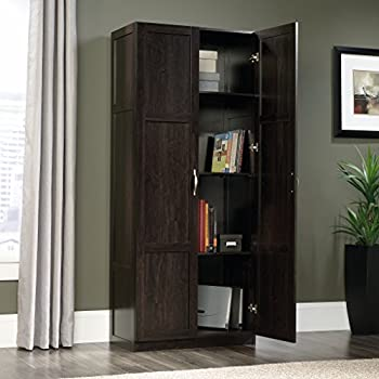 Sauder Storage Cabinet, Cinnamon Cherry Finish