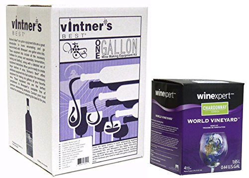 Wine Making Equipment Kit Plus Chardonnay Ingredient Kit by Vintner's Best
