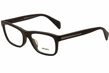 72feb2d5ce03 Amazon.com: Prada Eyeglasses VPR 19PV 19/PV TV4-101 Brushed Grey ...