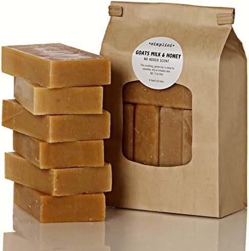 SIMPLICI Goats Milk & Honey bar soap Value Bag (6 Bars)