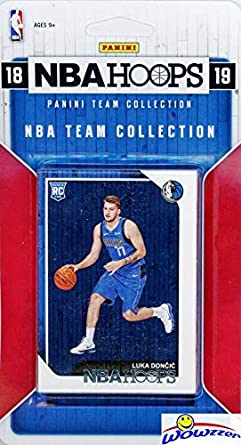 Dallas Mavericks 2018/2019 Panini Hoops NBA Basketball EXCLUSIVE Factory  Sealed Limited Edition 10 Card Team Set with LUKA DONCIC ROOKIE, DeAndre