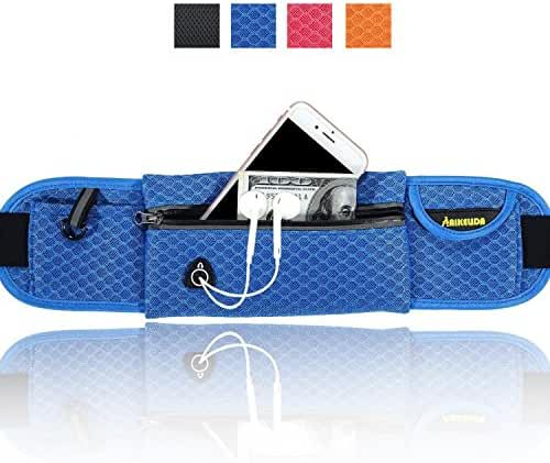 AIKELIDA Running Belt / Runner Waist Pack / Running Gear Bag / Runners Belt for iPhone , Samsung Galaxy - for Men, Women during Workouts, Fitness, Cycling, Hiking, Walking, Running