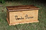 Laser Engraved Personalized Kids Toy Box - Engraved Toy Box - Personalized Toy Box - Children's Toy Box - Kids Memory Box - Gift for Kids - Wood Toy Box