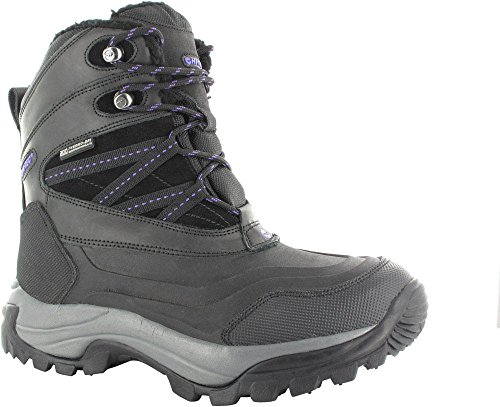 Hi-Tec Women's Wn SN Peak 200 Waterproof Snow Boot, Black/Purple, 7 M (Waterproof 200g Thinsulate Insulation)