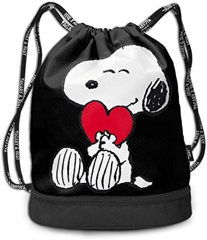 メンズ レディース 兼用スヌーピー Snoopy ナップサック アウトドア ジムサック 防水仕様 バッグ 巾着袋 スポーツ 収納バッグ 軽量 バッグ 登山 自転車 通学・通勤・運動 ・旅行に最適 アウトドア 収納バッグ